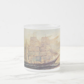 Rock Glass Sailing Frosted Glass Coffee Mug