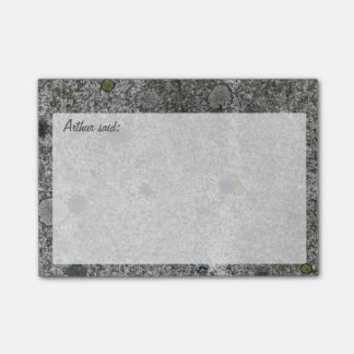 Rock Grey Granite Texture with Text Post-it® Notes