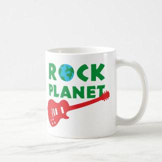 rock guitar basic white mug