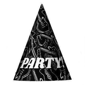 Rock guitar party hat