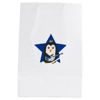 Rock Guitar Penguin Medium Gift Bag