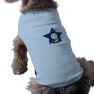 Rock Guitar Penguin Sleeveless Dog Shirt