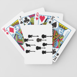 Rock Guitar Silhouettes Bicycle Playing Cards