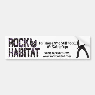 Rock Habitat Bumper Sticker