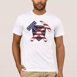 Rock Hammer Shield- USA Flag T-Shirt