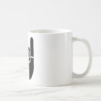 Rock Hand Stencil Coffee Mug