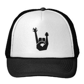 Rock hand symbol cap