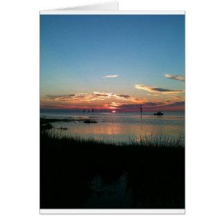 Rock Harbor Beach Sunset Greeting Card