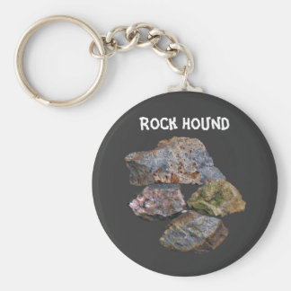 Rock Hound Collectors Cute Basic Round Button Key Ring