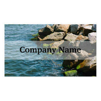 Rock In A Blue Sea Landscape Photography Business Card Template
