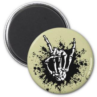 Rock in Bone 6 Cm Round Magnet