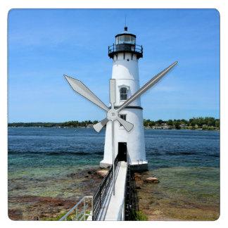 Rock Island Lighthouse, New York Wall Clock