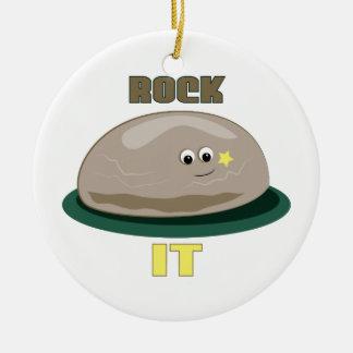 Rock It Round Ceramic Decoration
