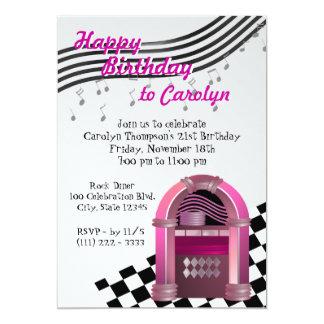 Rock Jukebox Birthday Card