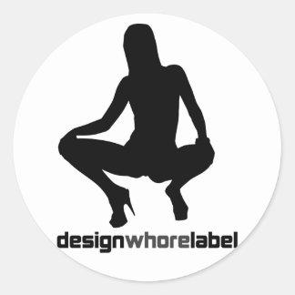 Rock=Life 'Designwhore Label' Punstar Sticker