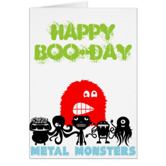 Rock=Life 'Metal Monsters - Happy Boo-day' Card