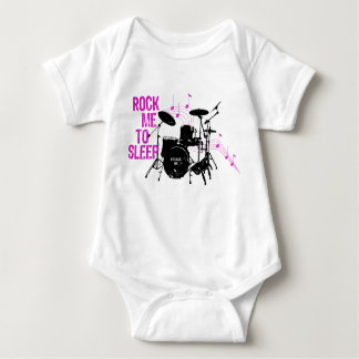Rock Me To Sleep Drums Baby Bodysuit