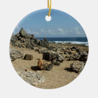 Rock Monuments on Aruban Coast Ceramic Ornament