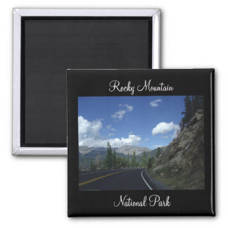 Rock Mountain National Park Square Magnet