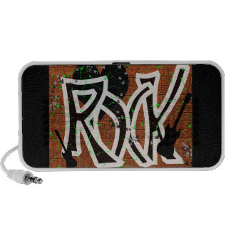 Rock Music digital graffiti speaker