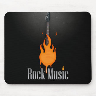 Rock Music Guitar Mouse Pad