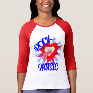 Rock Music Lovers Funky Big Mouth Lips Graphic T-Shirt