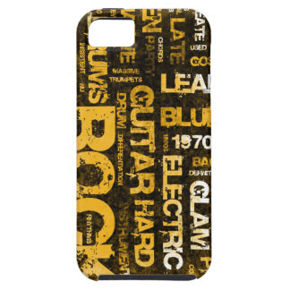 Rock Music Party Invitation as Poster Art iPhone 5 Cover
