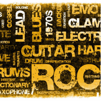 Rock Music Party Invitation as Poster Art Photo Sculpture Decoration