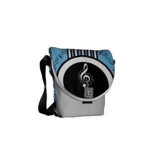 Rock My World | Guitar/Musical Notes Messenger Bags