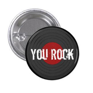 Rock N Roll 3 Cm Round Badge