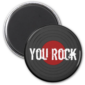 Rock N Roll 6 Cm Round Magnet