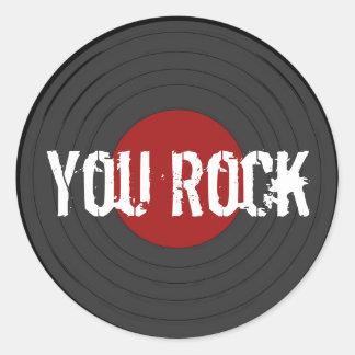 Rock N Roll Classic Round Sticker