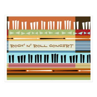 Rock' N' Roll Concert Postcard