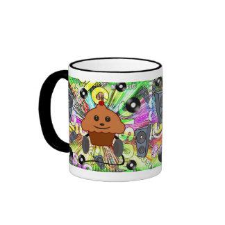 Rock N Roll Cupcake Ringer Mug