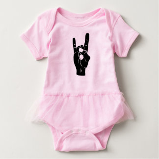 Rock n Roll Devil Horns Baby Bodysuit