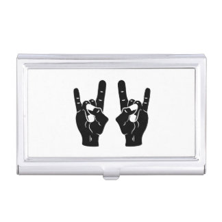 Rock n Roll Devil Horns Business Card Holders