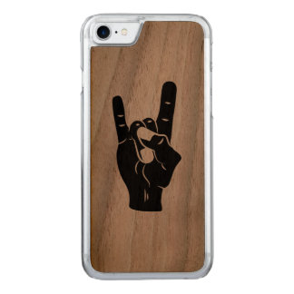 Rock n Roll Devil Horns Carved iPhone 7 Case