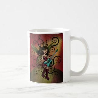 Rock N Roll Fairy Basic White Mug
