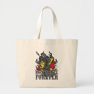 Rock N Roll Forever Large Tote Bag