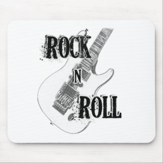 rock n roll guitar mouse pad