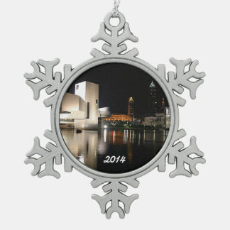 Rock n' Roll Hall of Fame, Cleveland Snowflake Pewter Snowflake Decoration