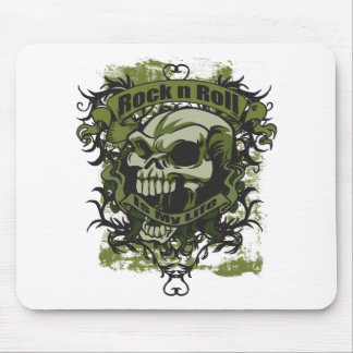 Rock n Roll is my Life Skull Mouse Pad