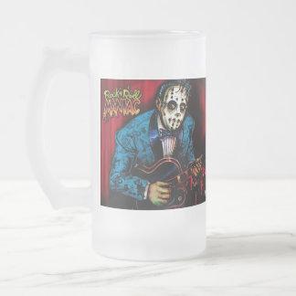 Rock n Roll Maniac Rockabilly Frosted Glass Mug