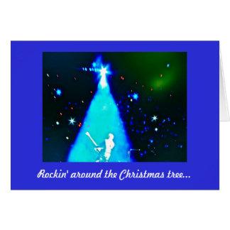 Rock n' Roll Music Christmas Card