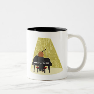 Rock N Roll Nerd Two-Tone Coffee Mug