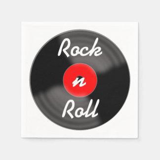 Rock n Roll Record Napkins Paper Napkin