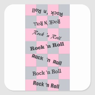 Rock N' Roll Square Sticker