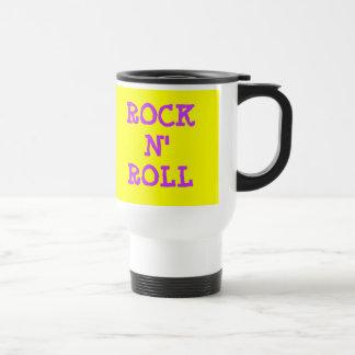 ROCK N' ROLL STAINLESS STEEL TRAVEL MUG