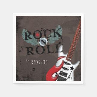 Rock N Roll Star Grunge Birthday Party Paper Napkin