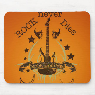 Rock Never Dies (black) - For Music Fans Mouse Pad